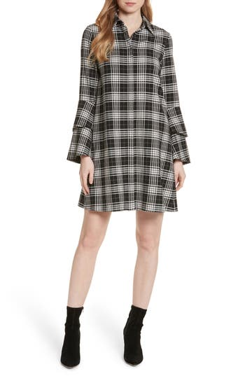 Alice + Olivia Jem Bell Sleeve Shirtdress