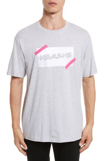 Versus By Versace Tape Logo Graphic T Shirt by Versus Versace
