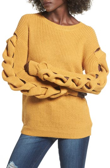 Leith Twist Sleeve Sweater