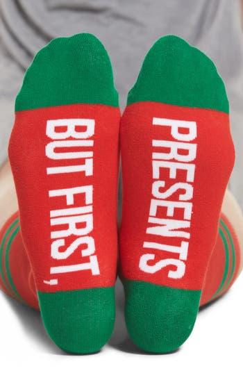 SOCKART But First, Presents Crew Socks