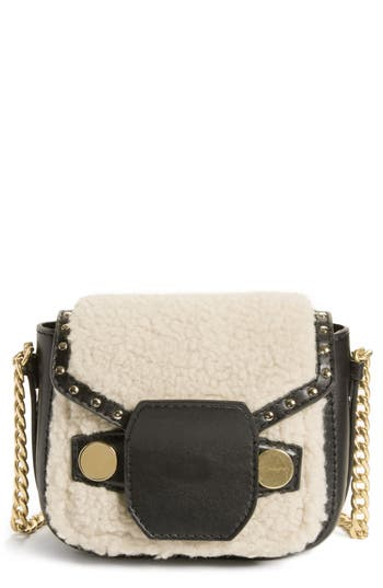 Stella McCartney Faux Shearling & Leather Crossbody Bag