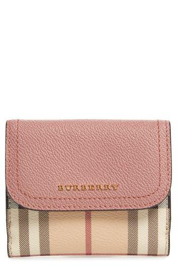Burberry Luna French Haymarket Check Wallet