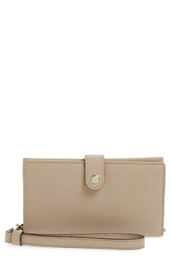 COACH Edgestain Calfskin Leather Phone Wristlet