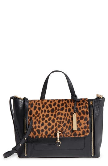 Vince Camuto Blena Leather & Genuine Calf Hair Tote