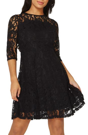 Dorothy Perkins Lace Fit & Flare Dress