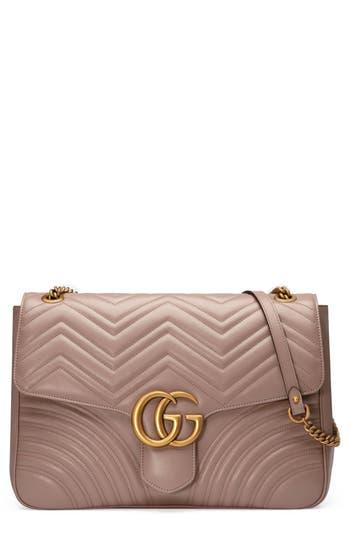 Gucci GG Large Marmont 2.0 Matelass? Leather Shoulder Bag