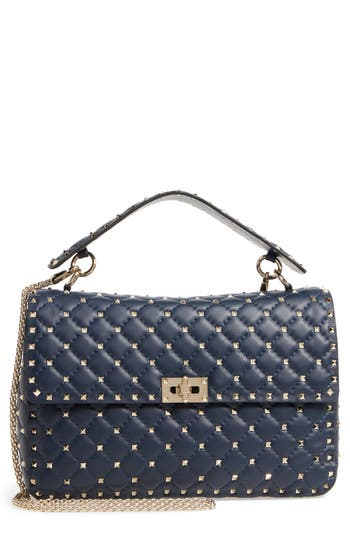 VALENTINO GARAVANI Large Rockstud Matelassé Quilted Leather Shoulder Bag