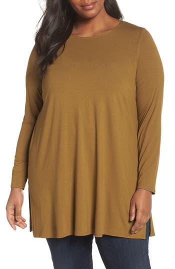 Eileen Fisher Round Neck Jersey Tunic (Plus Size)