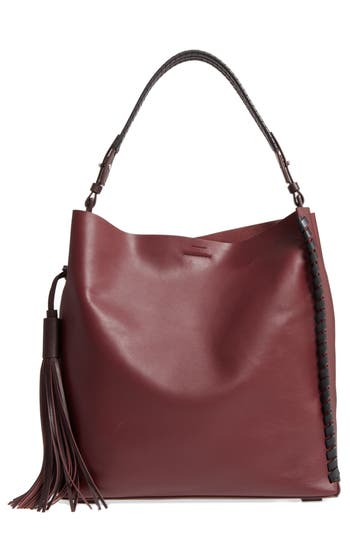 kepi north/south leather tote