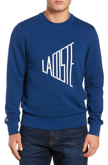 Lettering Fleece Sweatshirt by Lacoste