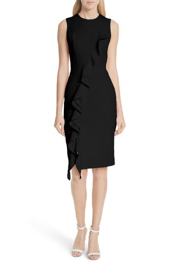 Tilly Ruffled Sheath Dress by Milly