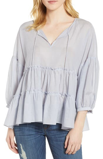 Tie Neck Tiered Top by Lucky Brand