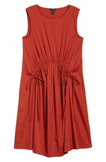 Drawcord Stretch Cotton Blend Dress by Halogen®
