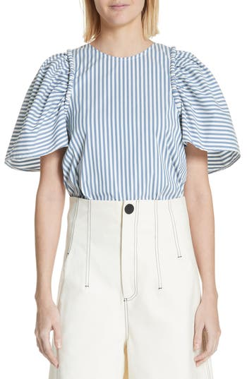 Riviera Corded Puff Sleeve Blouse by Sea