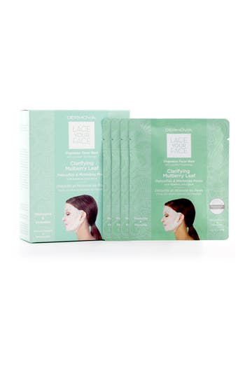 Alternate Image 2  - Dermovia Lace Your Face Clarifying Mulberry Leaf Compression Facial Mask
