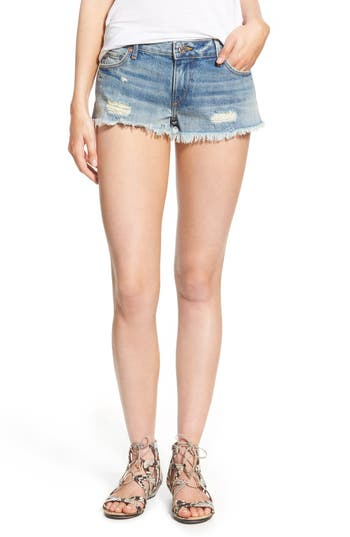 True Religion Brand Jeans Joey Flap Pocket Cutoff Shorts (Vintage True Destroyed)