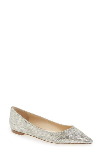 Jimmy Choo 'Romy' Pointy Toe Flat (Women)