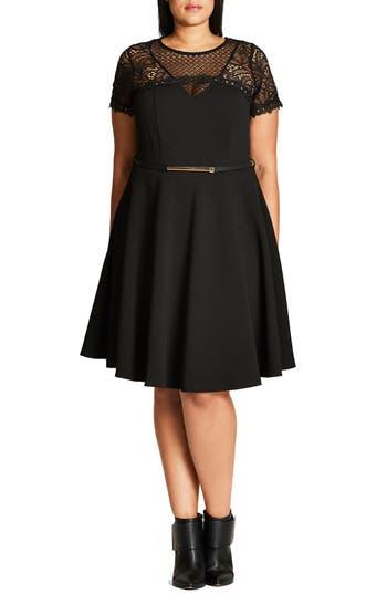 City Chic Lace Fever Dress (Plus Size)