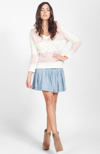 Alternate Image 4  - Paige Denim 'Danni' Ruched Chambray Skirt