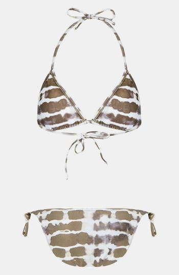 Alternate Image 2  - Topshop Tie Dye Triangle Bikini