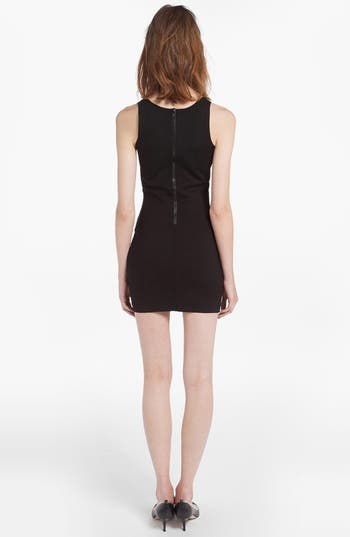Alternate Image 2  - maje 'Denier' Mesh Panel Body-Con Dress