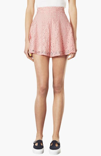 Alternate Image 1 Selected - Topshop High Waist Lace Skater Skirt