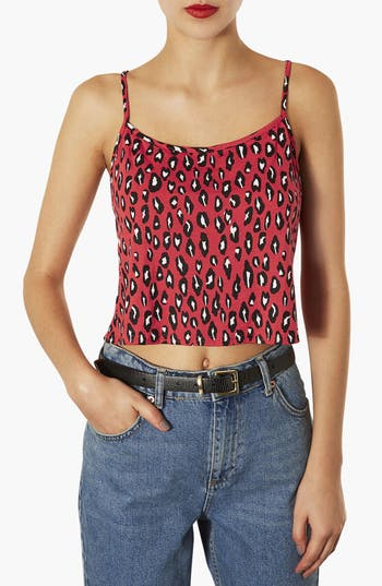 Alternate Image 1 Selected - Topshop Leopard Print Camisole