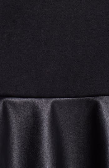 Alternate Image 3  - Cynthia Steffe Faux Leather Detail Drop Waist Dress (Online Only)