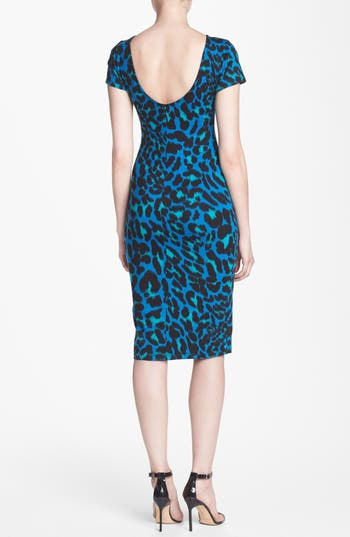 Alternate Image 2  - WAYF Leopard Spot Body-Con Dress
