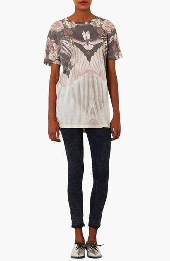 Alternate Image 4  - Topshop Dove & Flower Graphic Tee