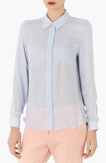 Main Image - Topshop Sheer Shirt