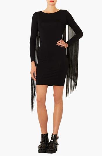 Main Image - Topshop Fringe Body-Con Dress