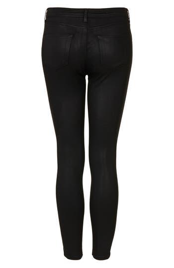 Alternate Image 3  - Topshop Moto 'Leigh' Coated Skinny Jeans (Petite)