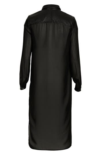 Alternate Image 3  - Topshop 'The Collection Starring Kate Bosworth' Leather Trim Shirtdress