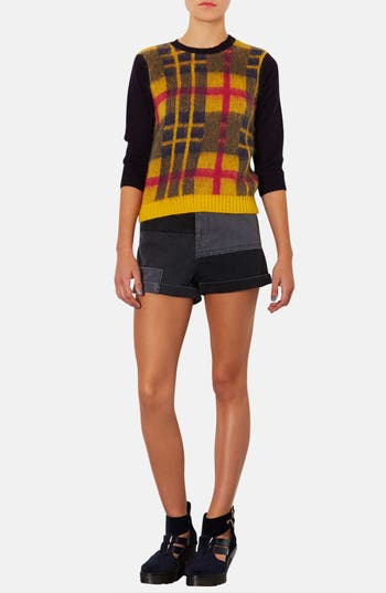 Alternate Image 4  - Topshop Plaid Front Sweater