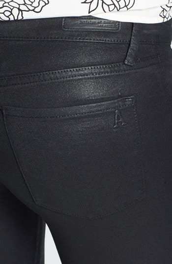 Alternate Image 3  - Articles of Society 'Mya' Zipper Detail Coated Skinny Jeans (Juniors) (Online Only)