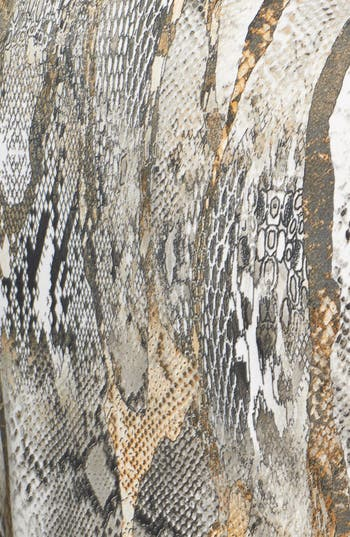 Alternate Image 4  - Donna Ricco Python Print Front Twist Jersey Dress (Regular & Petite)