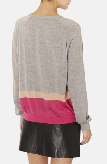 Alternate Image 2  - Topshop Colorblock Merino Wool Sweater