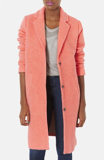 Main Image - Topshop Wool Blend Boyfriend Coat