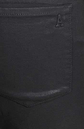 Alternate Image 3  - Articles of Society 'Mya' Coated Skinny Jeans (Moto)