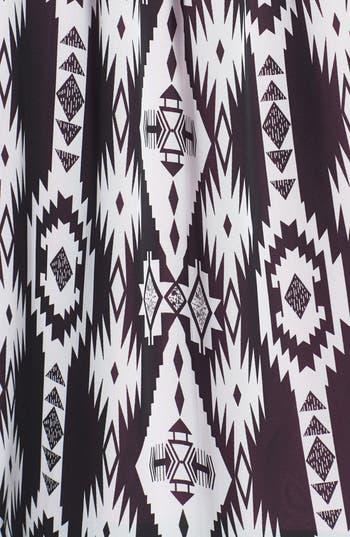 Alternate Image 3  - h.i.p. Lace Yoke Print Chiffon Kimono Cardigan (Juniors)