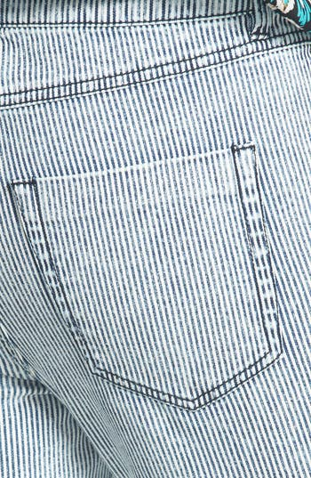 Alternate Image 3  - Fire High Waist Skinny Jeans (Railroad Stripe) (Juniors)