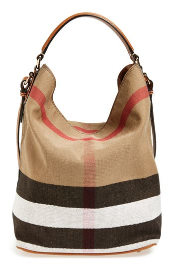 Burberry Medium Ashby Check Print Bucket Bag | Nordstrom
