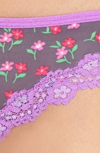 Alternate Image 3  - Honeydew Intimates 'Emily' Lace Trim Thong