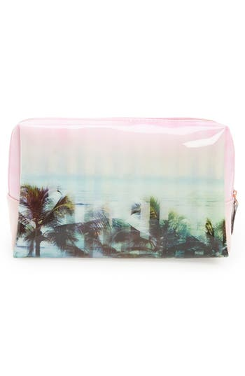 Alternate Image 4  - Ted Baker London 'Large' Palm Tree Print Cosmetics Bag