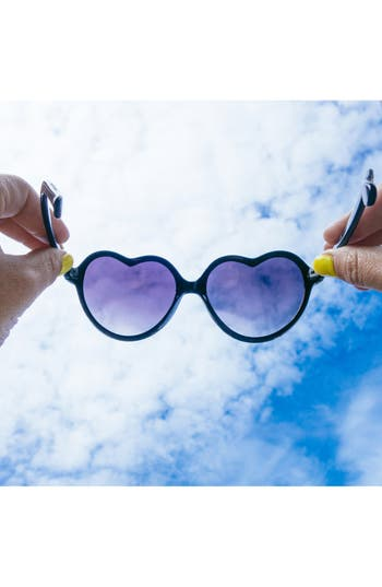 Alternate Image 2  - BP. 'Luv' Tortoiseshell Heart 55mm Sunglasses (Juniors)