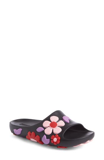 Prada Floral Slide Sandal ..