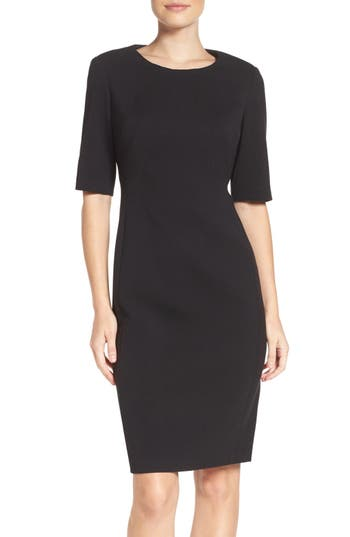 Eliza J Crepe Sheath Dress..