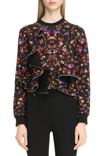 Givenchy Floral Print Ruff..