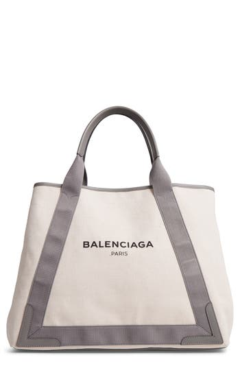Balenciaga Medium Cabas Canvas Tote